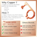 Aviano Copper Protector Door Opener Tool & Button Pusher – 99.9% Copper Hands Free Germ Keychain Utility Hook Tool Key– No Touch Tool for Infected Surfaces, Touchscreens, Handles, Buttons