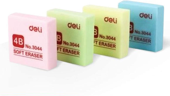 Globaldeli Colors Pencil Eraser- Pack of 36 Plastic Erasers, Size 1.37
