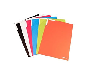 GlobalDeli- Report and Homework Covers. Pack of 6 Project Organizer File Jackets. Assorted Colors, Size A4 Document Cover Folder