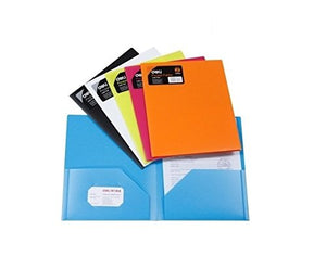 GlobalDeli- Heavy Duty 2-Pocket Resume Folder- Pack of 10- Assorted Colors