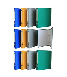 GlobalDeli- Office Supplies 2 Round Ring Binder. Pack of 12, a 1 Inch View Binders. Assorted Colors