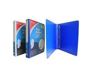Heavy Duty Office Supplies Binders. Size 1.5 and 3 inch, a 3 D Ring Binder Set. Large 4 Pack View Binders, White and Blue