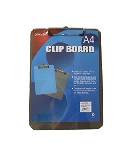 GlobalDeli Premium Plastic Clipboard. Bulk Pack of 1 & 2 Office Clipboards. Size 12-1/2