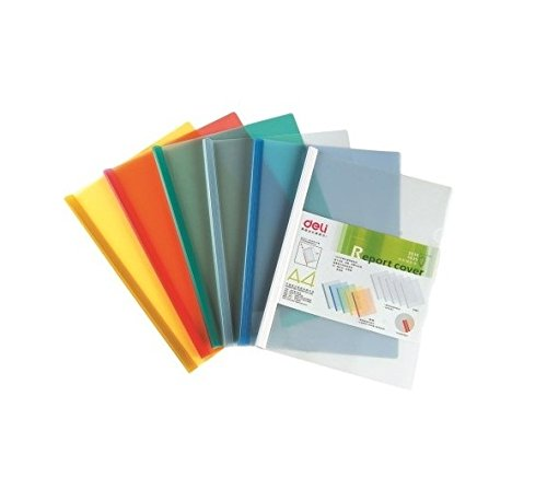 GlobalDeli Premium Sliding Bar Report Cover. Pack of 10-15-20 Resume Folder. Size A4. Assorted & Clear Color Project Folders.