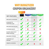Modern Grocery Coupon Organizer for Purse- Wallet & Extreme Coupon Holder. Set Includes 24 Plastic Coupon Cards Dividers and Stickers. Material- High Quality Canvas. (BLACK)