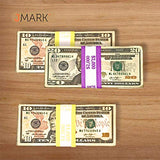 Money Bands Currency Sleeves Straps – Made in USA (Pack of 3000) Self-Adhesive Assorted Money Wrappers for Bills Color Coded Wraps Meets ABA Standards, 7.5 x 1.25 inches – Recyclable Kraft Paper