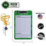 Baseball Coach Clipboard with Hand Pitch Tally Counter - Softball Double Sided Lineup Coach Whiteboard Bundled with Whistle and Clipboard Markers- Coaching Equipment for Pitch Counting and Tactics