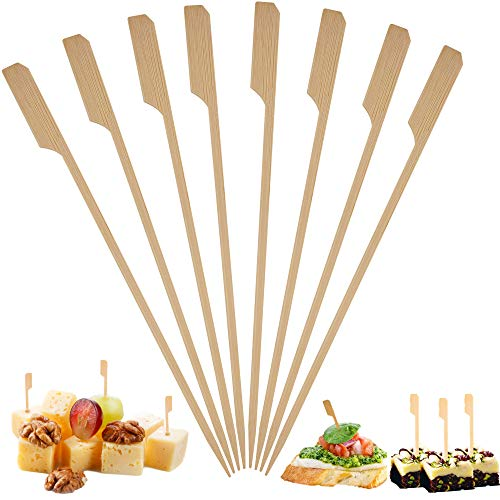 Bamboo Skewers Toothpicks for Appetizer Picks – 3.5 inch(Pack of 500) Wooden Cocktail Skewers and Bamboo Toothpicks for Appetizers Food Garnish Sandwich Fruit Kabobs Drinks Cocktail – Eco Friendly