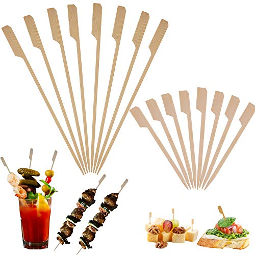Bamboo Skewers Toothpicks for Appetizer Picks –3.5 & 7 inch (Pack of 1000) Wooden Cocktail Skewers and Bamboo Toothpicks for Bloody Mary Skewers Appetizers Food Garnish Sandwich Fruit Kabobs Drinks