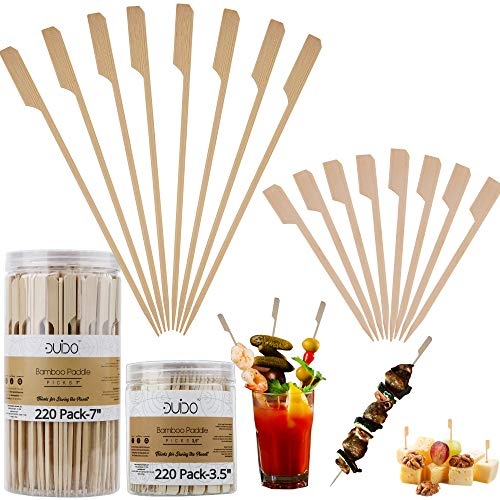 Bamboo Skewers Toothpicks for Appetizer Picks – 3.5 & 7 inch (Pack of 440) Wooden Cocktail Skewers and Bamboo Toothpicks for Bloody Mary Skewers Appetizers Food Garnish Sandwich Fruit Kabobs Drinks