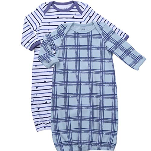 Asher & Olivia Baby Gowns Baby Sleeper 2 Pc Boy Night Gown Wearable Blanket