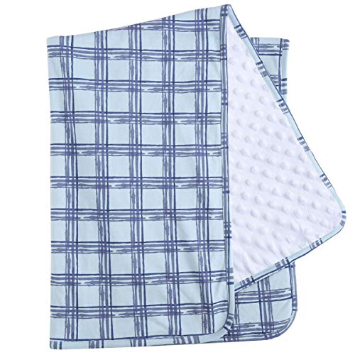 Asher & Olivia Baby Boy Blankets Cotton Receiving Swaddle for Newborn Toddler