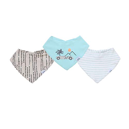 Asher & Olivia Baby Bandana Bibs 3-Piece Drool Bibs for Boys