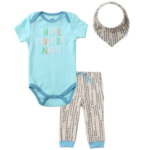Asher & Olivia Unisex Baby Boy Outfits Short-Sleeve one piece Pant Bib Clothes Set