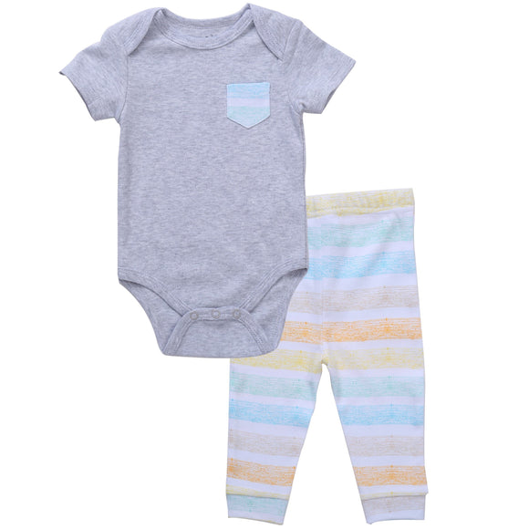 Asher & Olivia Unisex Baby Boy Outfits Short-Sleeve one piece Pant Clothes Set