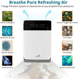 Aviano AV890 7-in-1 Smart Home Air Purifier BUNDLED with 2 SETS OF True HEPA Filters for Large Room (350sqft) | Great for Smokers, Pets, Allergies | Filters Pet Hair, Dust, Allergens, Mold, Germs, Odor & Smoke Eliminator