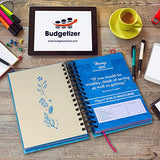 Bill Organizer Budget Planner Book - Monthly Budget Notebook and Expense Tracker – Finance Planner Bundled with Cash Envelopes – Budget Ledger with Pockets