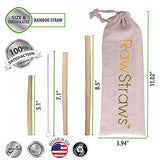 Reusable Bamboo Straws Biodegradable Drinking – 14 Pack Sizes 8.5 inch 7.1 inch and 5.1 inch Eco-Friendly Storage Pouch and Cleaning Brush