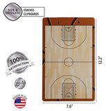 Basketball Coaches Dry Erase Clipboard – Double Sided Lineup Board Bundled with Whistle and Dry Erase Markers