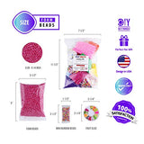Slime Foam Beads Floam Balls – 18 Pack Microfoam Beads Kit 0.1-0.14 inch (90,000 Pcs) Micro Colors Rainbow Fruit Beads Craft Add ins Homemade DIY Kids Ingredients Flote Microbeads Supplies Mini Small