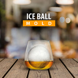 Bella Ice Cube Molds & Trays- Ice Ball Mold, 5 & 10 Pack 2.5 Inch Large Silicone Spherical Ice Cube Globe Maker, Jumbo Ice Sphere Molds, Perfect Round Ice for Whiskey, Scotch, Bourbon, Gin, Fruit