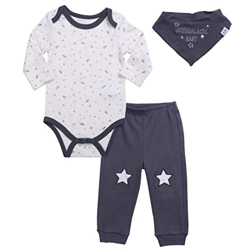 Asher & Olivia Unisex Baby Boy Outfits Long-Sleeve  Pant Bib Clothes Set