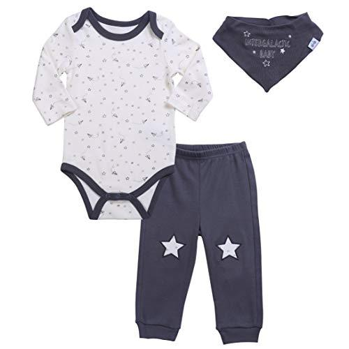 Asher & Olivia Unisex Baby Boy Outfits Long-Sleeve one piece Pant Bib Clothes Set
