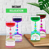 Liquid Motion Bubbler Sensory Toys – 2 Pc Set Bundle Stretchy String Fidget Toys Timer for Stress Relief and Anxiety Relief Great for All Ages, Water Oil Toy for Hyperactivity Relaxation figit Green
