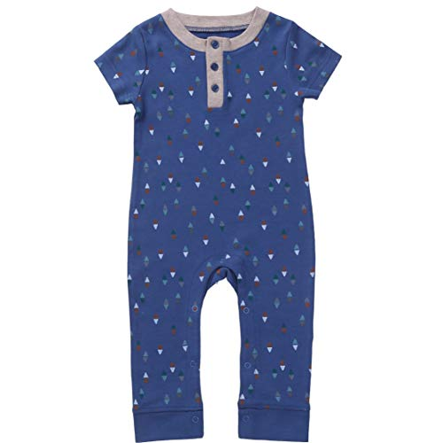 Asher & Olivia Baby Boy Romper Jump Suit Short Sleeve Jumper Coverall Jumpsuit