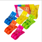 Beach Chair Towel Clips Clamps – 10 PACK Pool Towel Holder and Large Plastic Clamp – ASSORTED COLORS Jumbo Clothespins and Towel Pegs – Heavy Duty Clips for Laundry, Beach, Pool Cover, Cruise Ship Acc