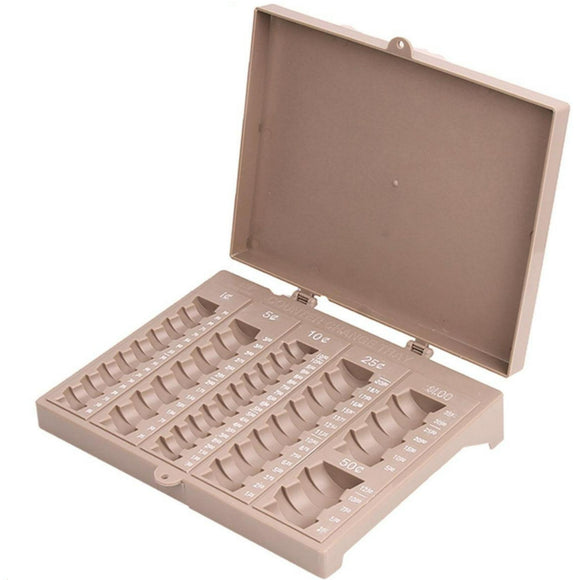 Coin Counter Sorter Money Tray -6 compartment -  Holds Pennies, Nickels, Dimes, Quarters, Half Dollar Coins and Dollar Coins