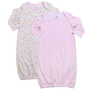 Asher & Olivia Baby Gowns Baby Sleeper 2 Pc Girl Night Gown Wearable Blanket