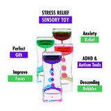 Liquid Motion Bubbler Sensory Toys – 8 Pc Set Bundle Stretchy String Fidget Toys Timer Stress Relief Anxiety Relief Great for Toddler, Children, Kids, Adults, Seniors, Autism Hyperactivity Relaxation