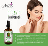 100% PURE ROSEHIP SEED OIL, Organic | HUGE 4oz Bottle | Reduce Acne Scars | Therapeutic Grade Essential Oil For Face, Skin, hair & Nails | Extra Virgin Cold-Pressed By Aviano Botanicals