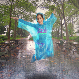 Emergency Family Rain Ponchos Extra Thick – 4 Pack Disposable Plastic Raincoat Bundled with Shoe Covers for Adults and Kids – Assorted Colors and 100% Waterproof Rain Gear