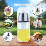 Oil Dispenser Glass Spray Bottle - Bundled with Oil Brush, Funnel and Cleaning Brush, Stainless Steel Cooking Oil Sprayer for Olive Oil.