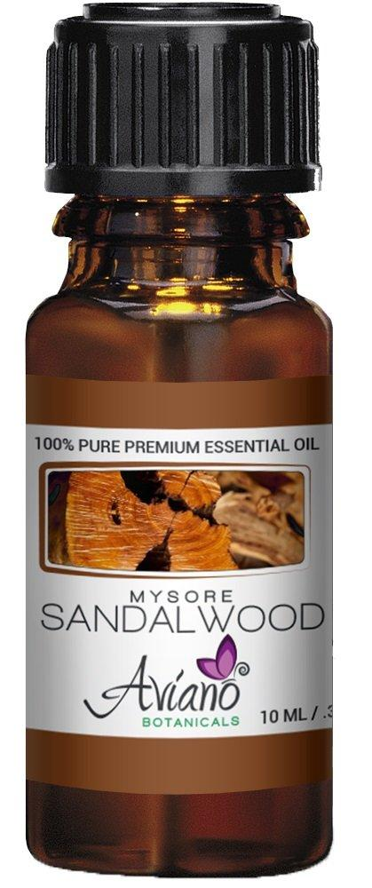 Indian Mysore Sandalwood Essential Oil, 100% Pure, Undiluted, Therapeutic Grade Sandalwood Oil By Avíano Botanicals - 10ml