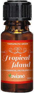 Tropical Island Essential Oil Synergy Blend - 100% Pure Essential Oils Blend for a Happy & Warm Paradise Atmosphere By Aviano Botanicals (10ml)