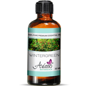 Wintergreen Essential Oil - 100% Pure Blue Diamond Therapeutic Grade by Avíano Botanicals (30 ml)