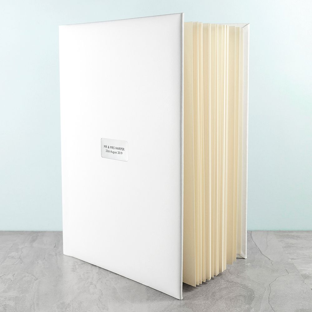 Personalised White Leather Photo Album