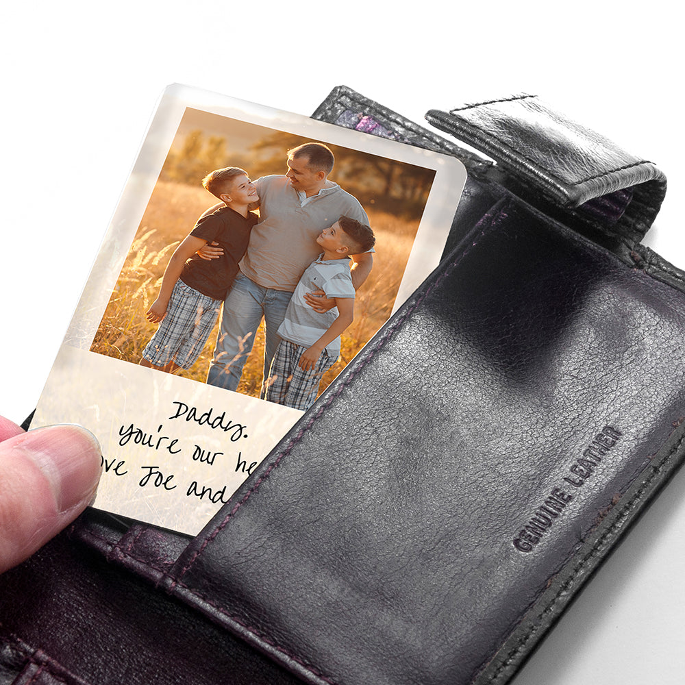 Personalised Dad's Photo Wallet Keepsake