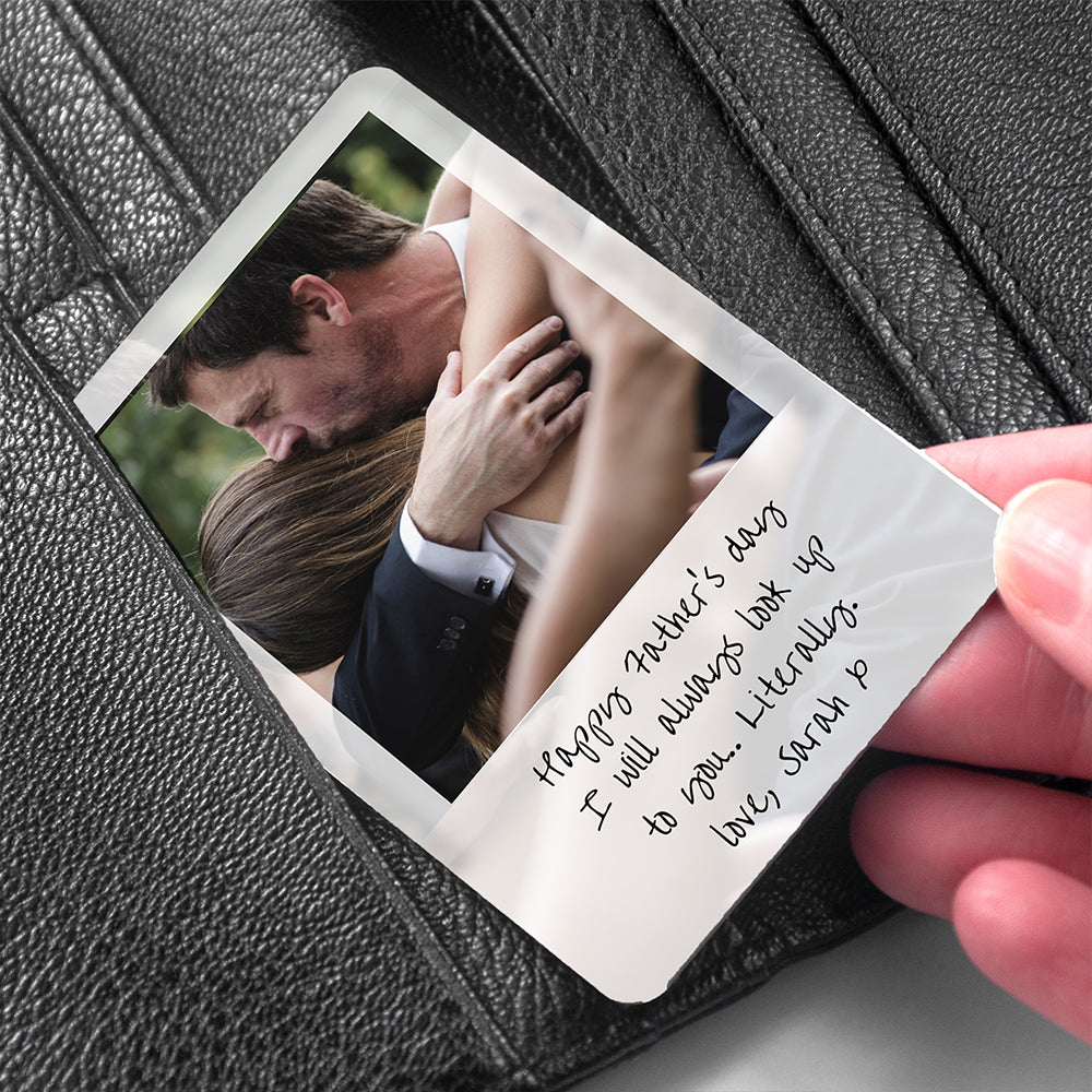 Personalised Dad's Photo Wallet Keepsake - treat-republic