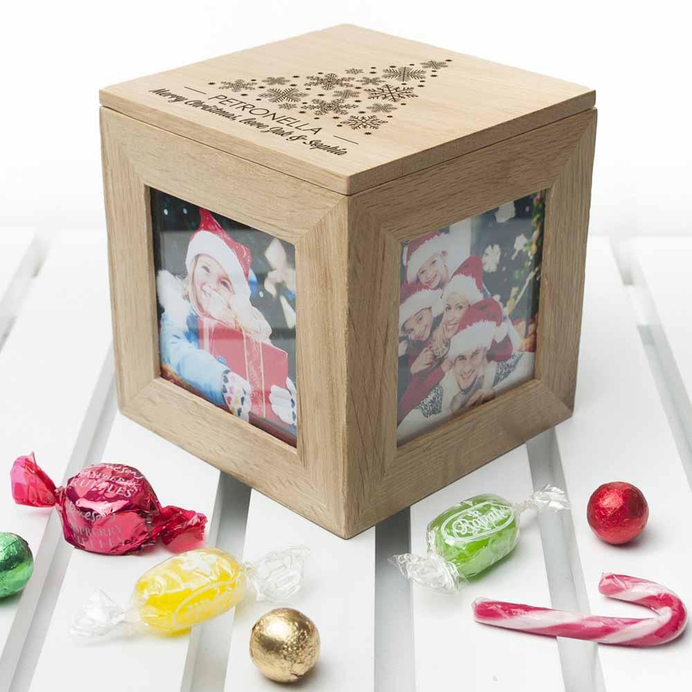 Christmas Photo Cube With Festive Treats - treat-republic