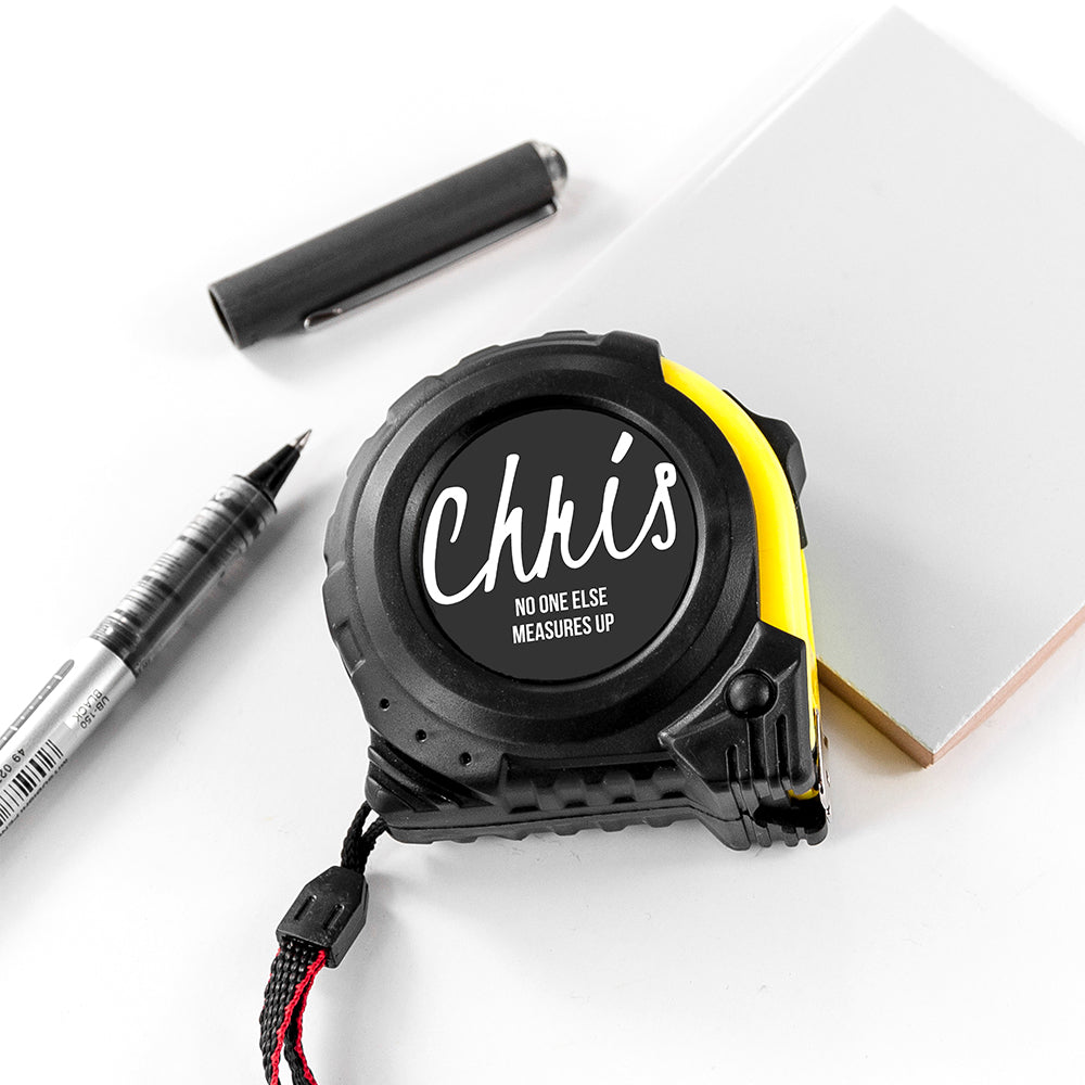 Personalised Handwritten No One Measures Up Tape Measure