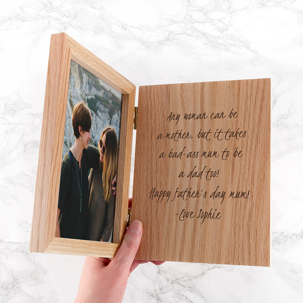 Engraved Book Photo Frame