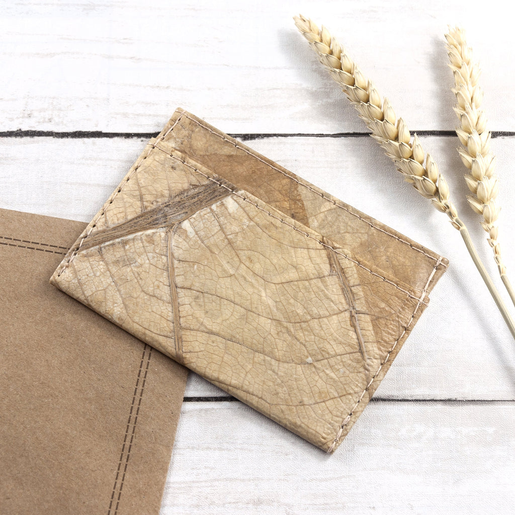 Cardholder in Leaf Leather - Natural