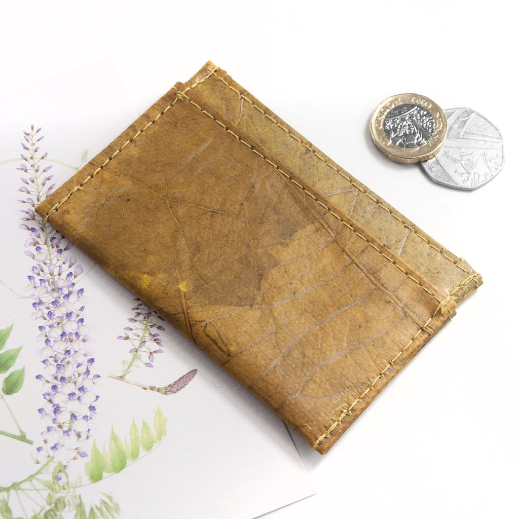 Cardholder in Leaf Leather - Tuscan Yellow