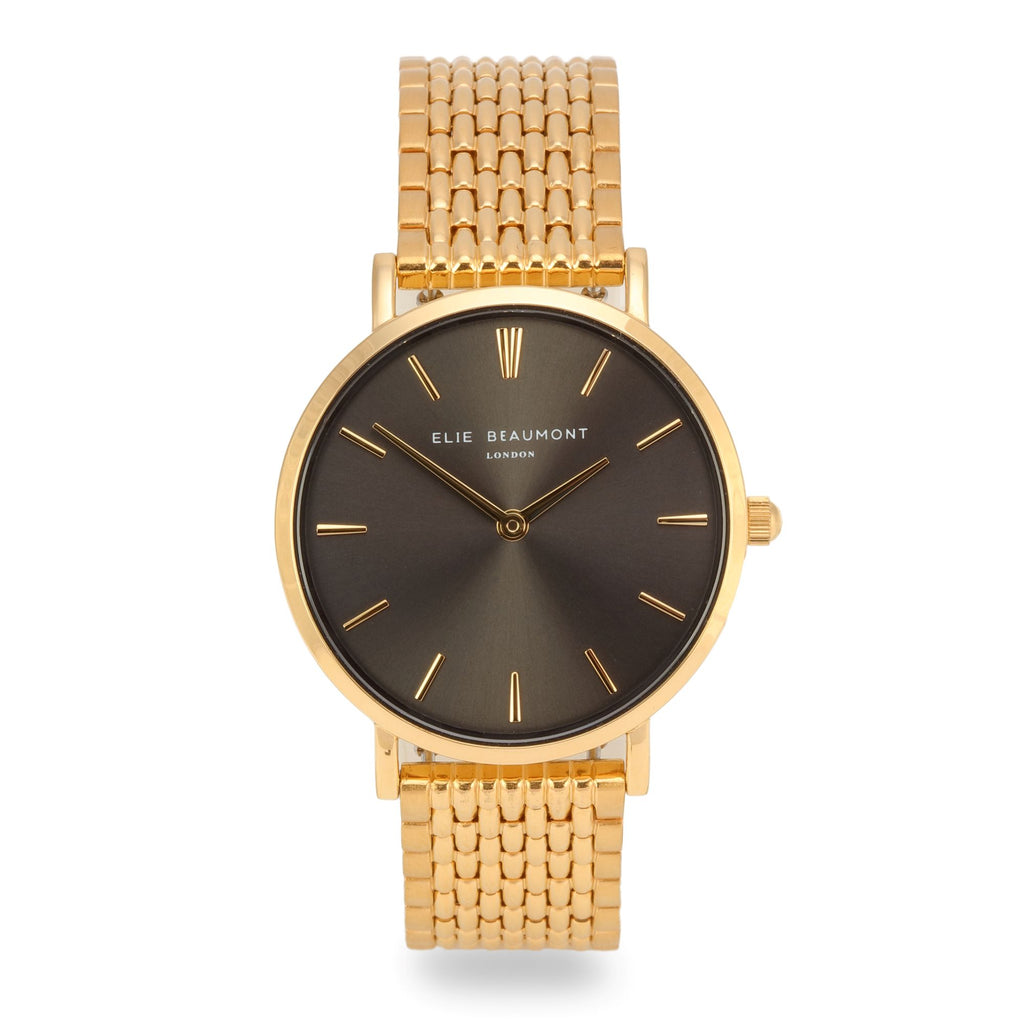 Elie Beaumont Ladies Personalised Bracelet Watch in Gold