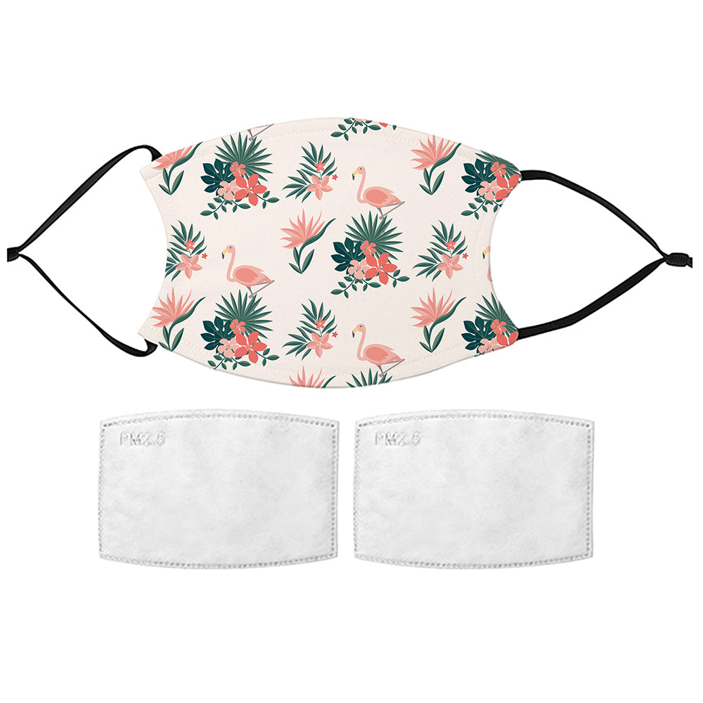Printed Face Mask - Flamingos Design