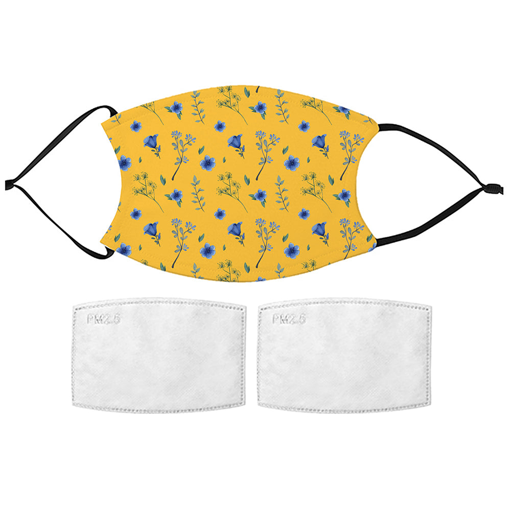 Printed Face Mask - Forget Me Not Pattern Design